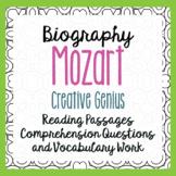 Mozart Biography Reading Passages Activities