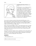 Mozart Information Worksheet, Biography