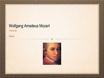 Mozart Introductory Lesson