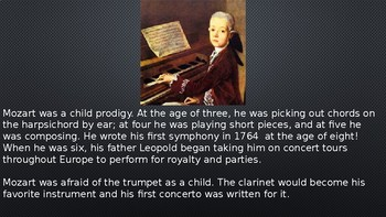 Mozart PowerPoint/Listening Activity