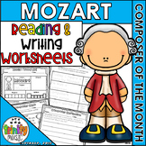 Mozart Reading & Writing Activities (Composer of the Month)