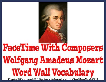 Mozart Word Wall Vocabulary