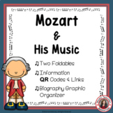 Music Composers: MOZART Foldables: Music Listening Activities