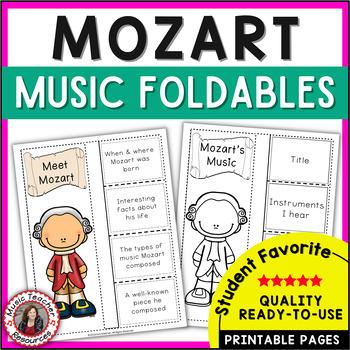 Music Composers: MOZART Music Listening Activities