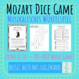 Mozart's Musical Dice Game (Musikalisches Würfelspiel)