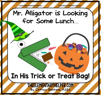 Mr. Alligator Halloween {an Adapted Book for Preschool and