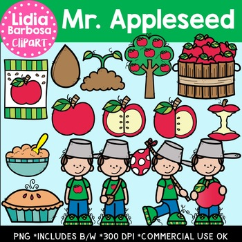 Mr. Appleseed Digital Clipart