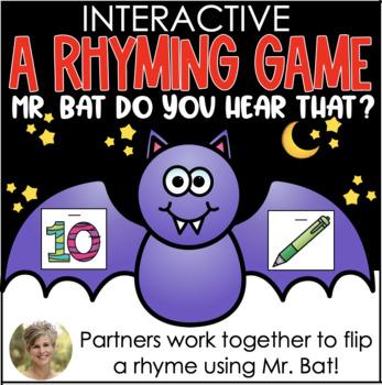Mr. Bat, Do You Hear That? {Partner Rhyming Game} for Kindergarten