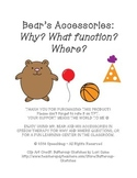 Mr. Bear and Accessories - WHY & WHERE QUESTION FUN!