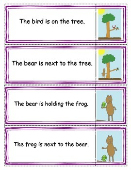 """Beginning Readers- Matching Game 3 and Mr. Bear- book 11"