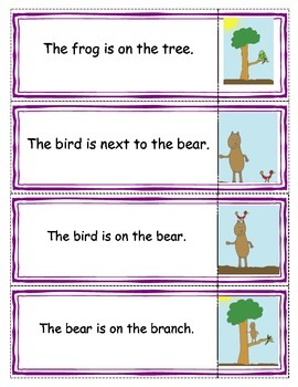 Beginning Readers- Matching Game 3 and Mr. Bear- book 11