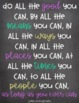 """Mr. Brown's Precepts - Printable Chalkboard Quotes from """"Wonder"""""""