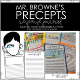 "Mr. Browne's Precept Response Journal: ""Wonder"" by R.J. Palacio"