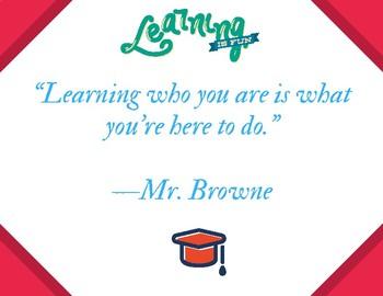 Mr. Browne's Precept from Wonder (POSTER)