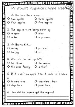 Mr Brown's Magnificent Apple Tree by Yvonne Winer ~ A week of reading activities