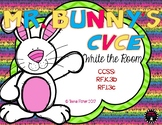 Mr. Bunny's Long Vowel Write the Room Kindergarten First  CVCE Words