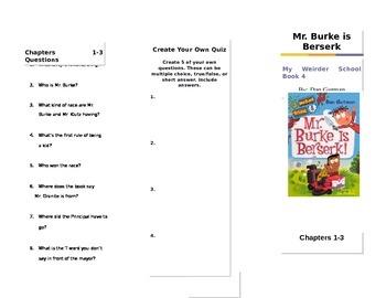 Mr. Burke is Buserk by Dan Gutman Trifold