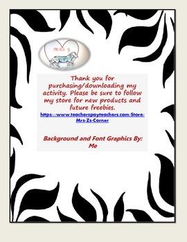 Mr. Butterfly Interactive Journal Graphic Organizer