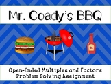 Mr. Coady's BBQ: Open-Ended Multiples & Factors Problem So