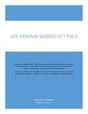 Mr. Comma Worksheet Pack