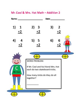 Mr Cool Mrs Hot Math Numbers 1 10 Addition And Subtraction Worksheets