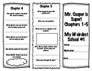 Mr. Cooper is Super!- Brochures and Final Assessment- NO PREP! Weirdest School 1