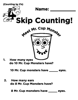 Mr. Cup Monster: Skip Counting by 2's, 5's and 10's