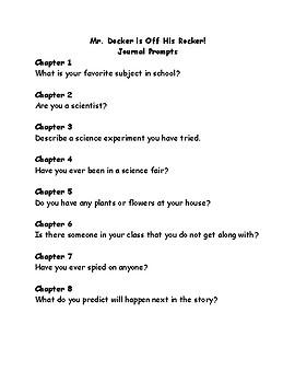 Mr. Docker is off his rocker comprehension questions