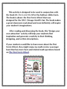 Mr. Ferris and His Wheel: Design an Attraction and Writing Activity