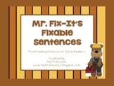 Mr. Fix-It's Fixable Sentences