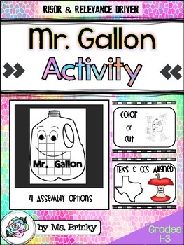 mr gallon printable by ms brinky teachers pay teachers. Black Bedroom Furniture Sets. Home Design Ideas