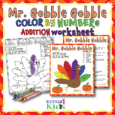 Mr. Gobble Gobble - Thanksgiving Turkey Color by Number Ad
