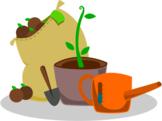 Mr. Greenfingers Poem - Fun Poetry - Gardener Tending to F