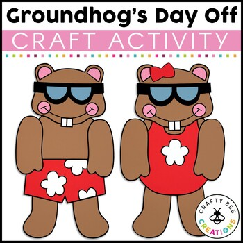 Mr. Groundhog's Day Off Cut and Paste
