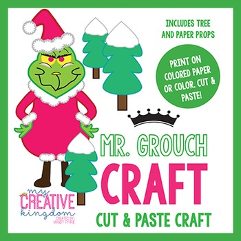 Mister Grouch Christmas Holiday Craft