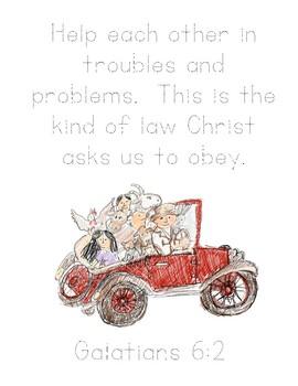 Mr. Gumpy's Motor Car Bible Verse Printable (Galatians 6:2)