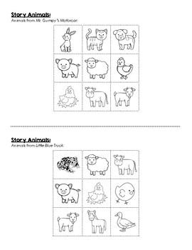 Mr. Gumpy's Motorcar and Little Blue Truck - Farm Animal Comparison Venn Diagram