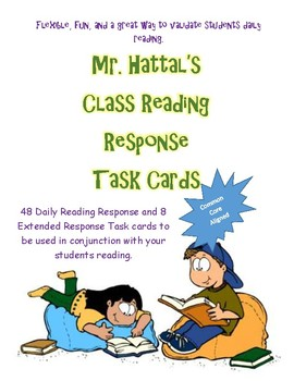 Mr. Hattal's Class Reading Response Task Cards.