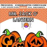 Pumpkins: Mr. Jack O' Lantern (5-day Thematic Unit) Preschool Pre-K Kindergarten