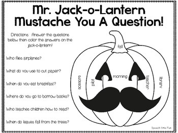 Mr. Jack-o-Lantern Mustache You A Question