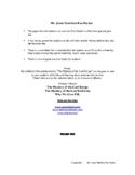 Mr. Jones Nutrition Fun Packet - Test/worksheets