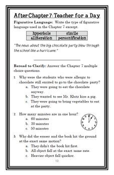 My Weird School: Mr. Klutz Is Nuts! (Gutman) Novel Study / Comprehension (26 pg)
