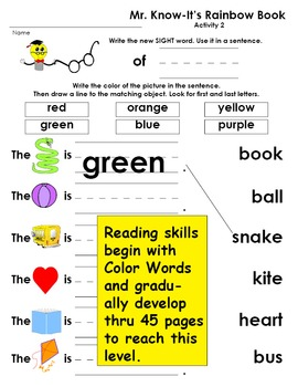 Sight Word Books and Activities PreK-K by Mr. Know-It