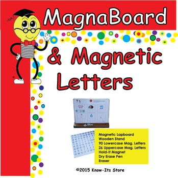 Mr. Know-It's Magnetic/Dry Erase Lapboard and Magnetic Letters