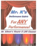 Mr. K's Generic Performance Project Rubric - for ANY Class Performance!