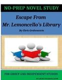 Escape From Mr. Lemoncello's Library Novel Study Lesson Plans