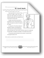 Mr. Lincoln Speaks (Writing Dialog/Using Quotation Marks)