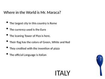 Mr. Maraca takes on Italy!