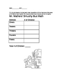 Mr. Mather's smushy bus worksheet- lower elementary math