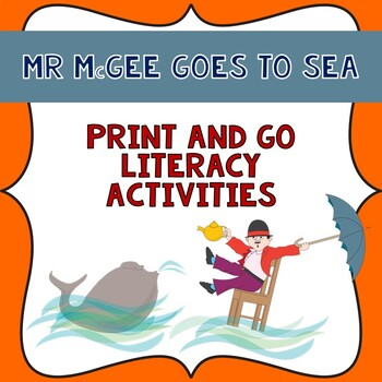 Mr McGee Goes to Sea Literacy print and go unit in Queensland beginners font.
